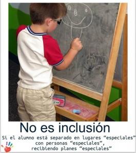 no es inclusion si