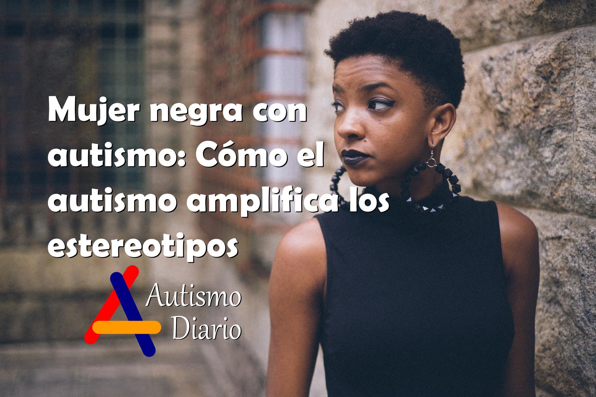 Mujer negra con autismo